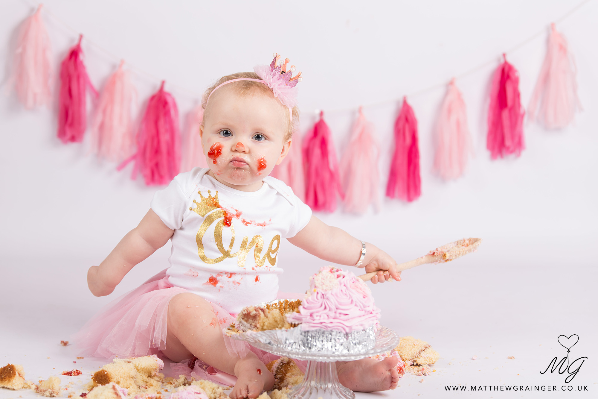 Diy Baby Girl First Birthday Cake
