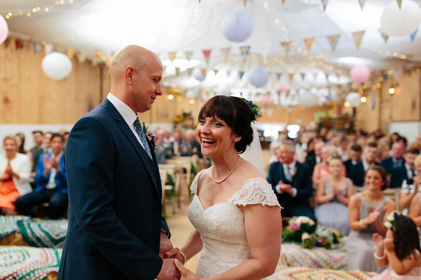 Marriage ceremony at the wellbeing farm wedding venue