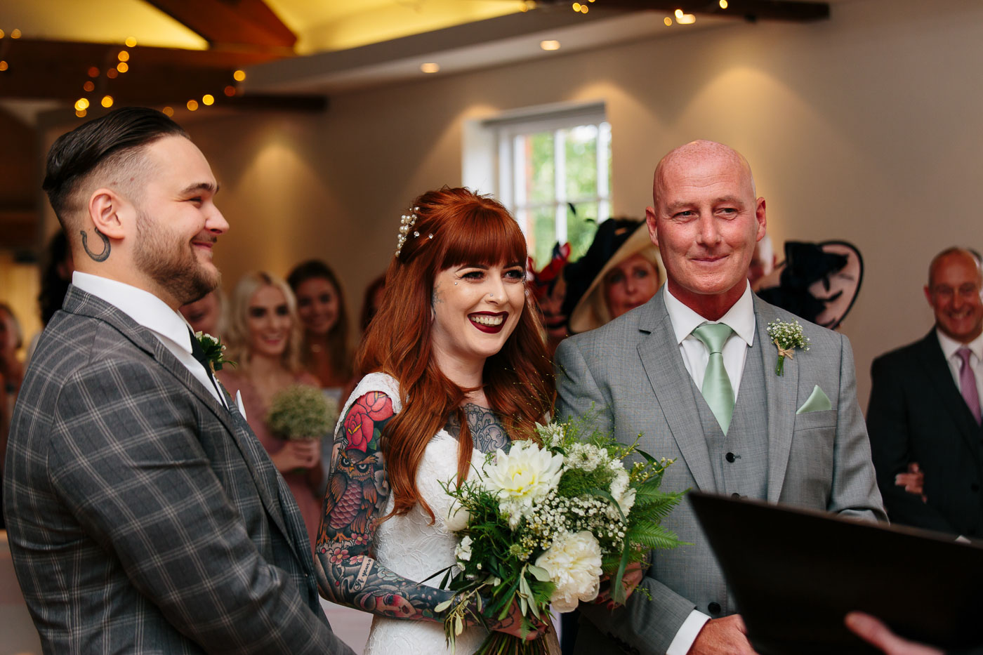 tattooed wedding at the castlefield rooms