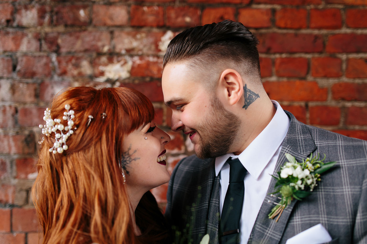 Fun and quirky couple wedding portraits