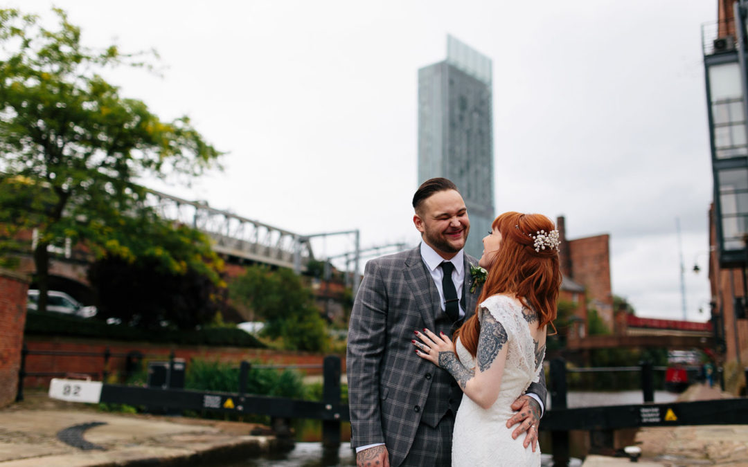 Castlefield Rooms Wedding Photography – James & Emma