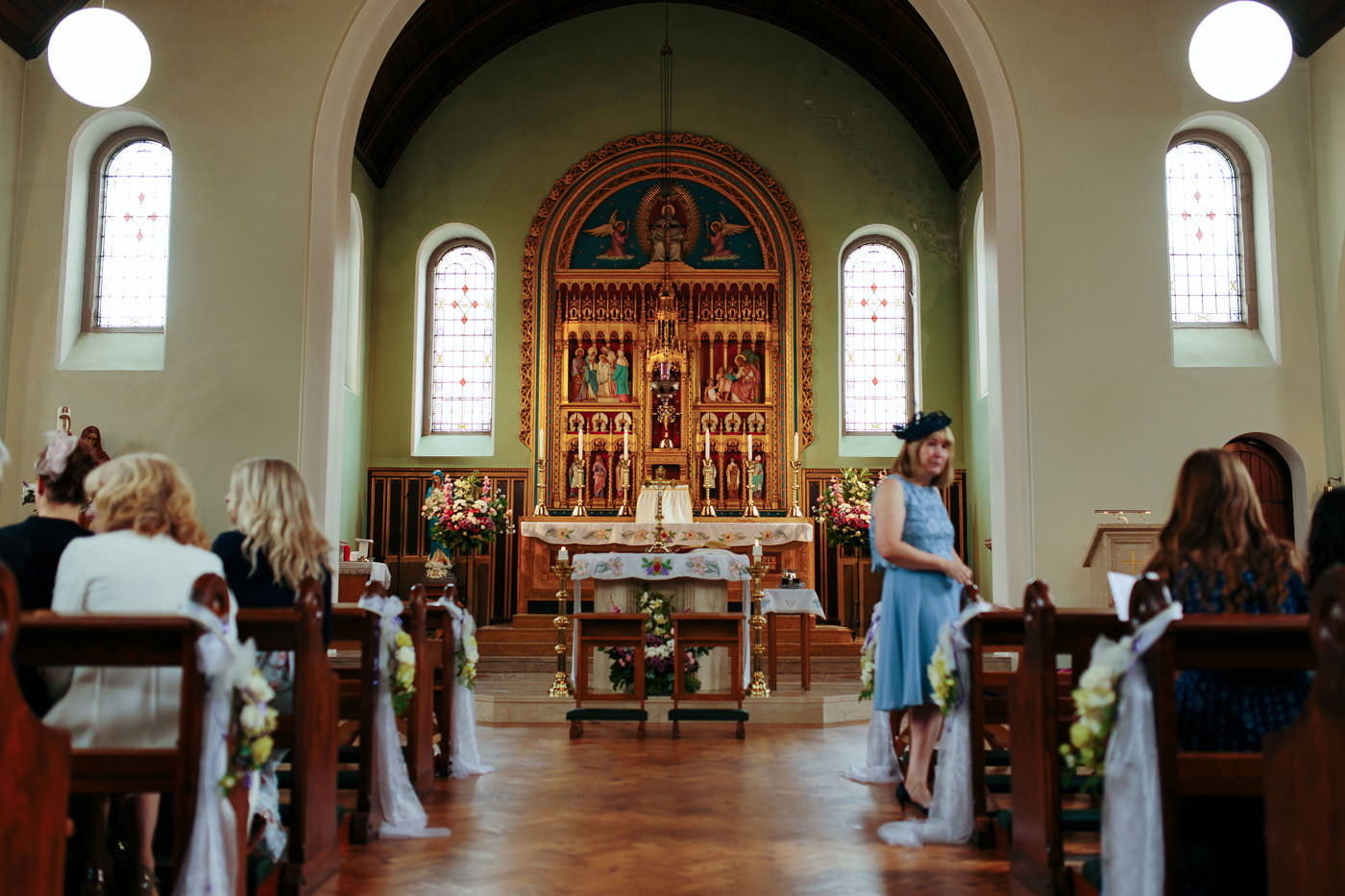 inside shot of the church