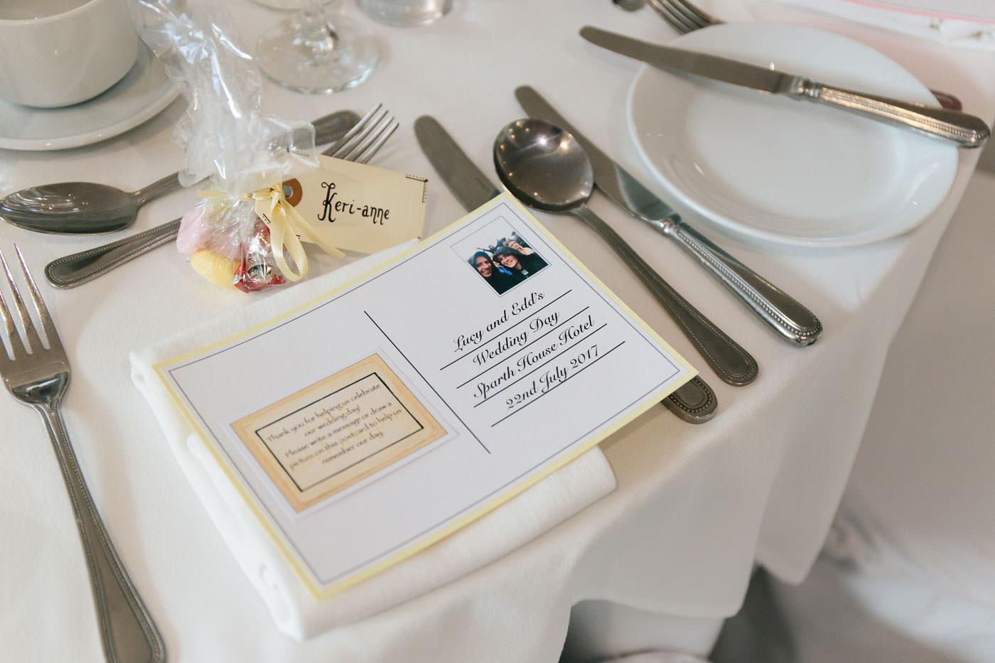 diy wedding table setup