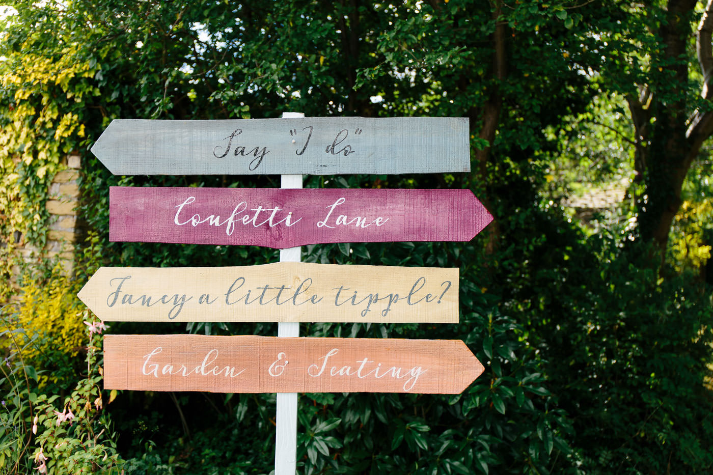 cute garden sign at sparth house hotel
