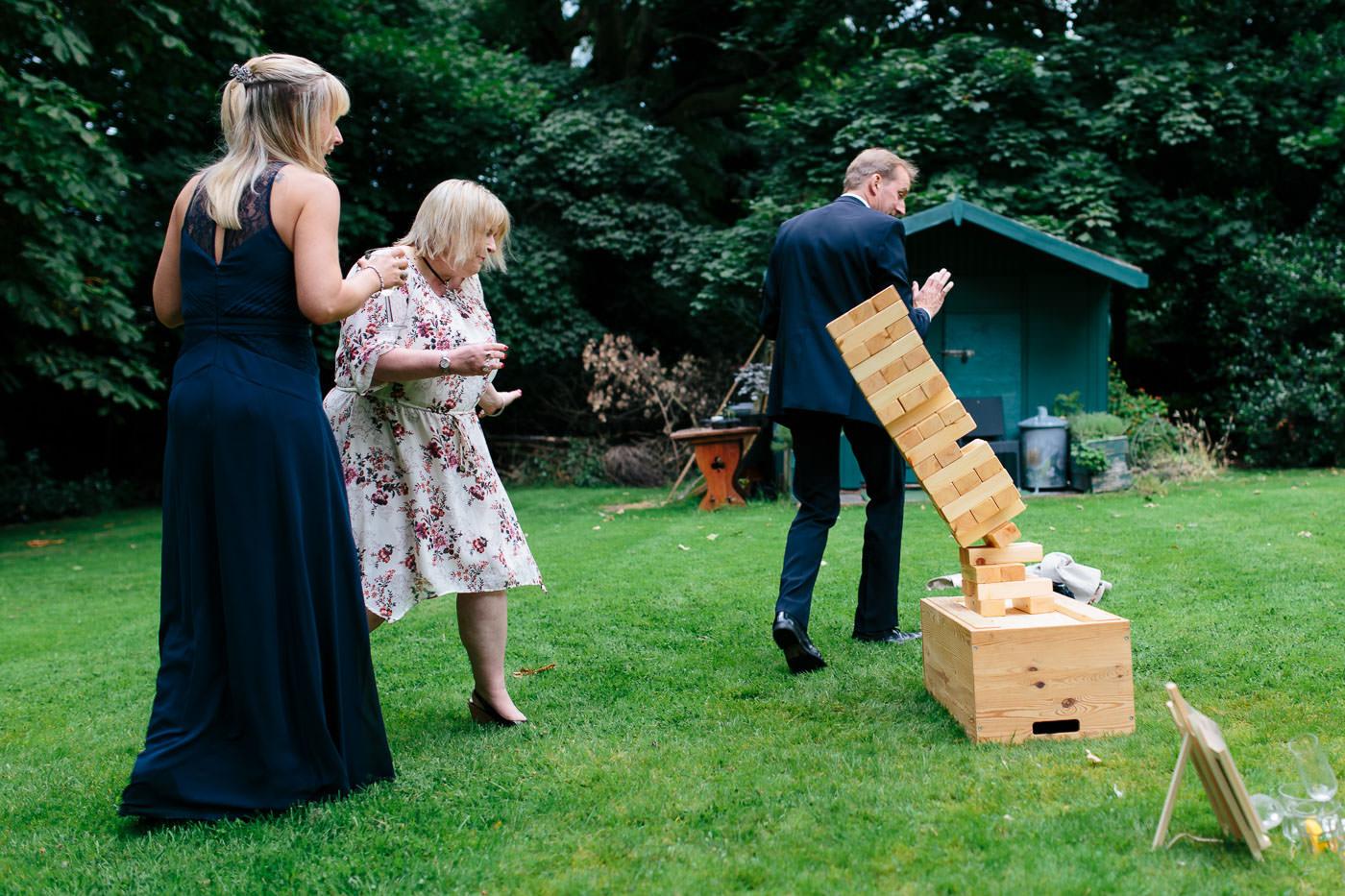 giant jenga diy garden wedding games