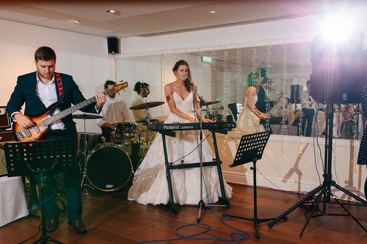 bride singing a song for the groom