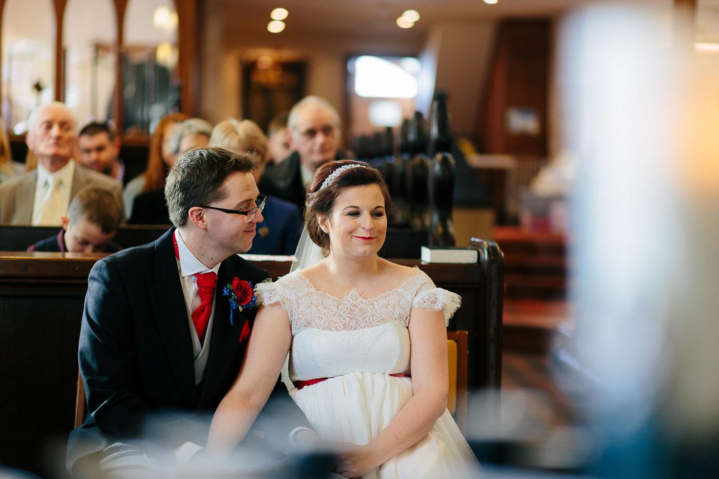 wedding at mitton church