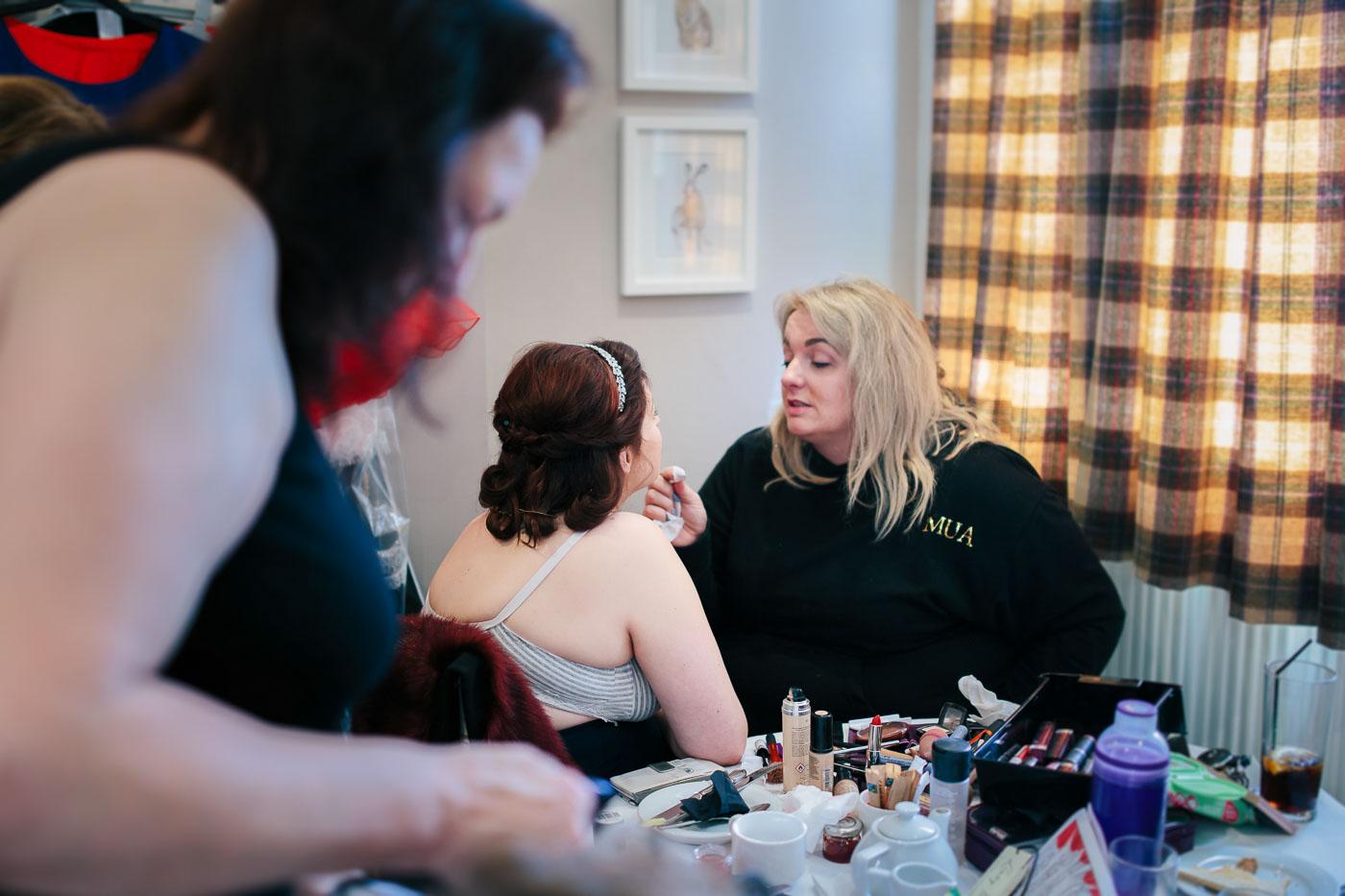 bridal makeup in Lancashire
