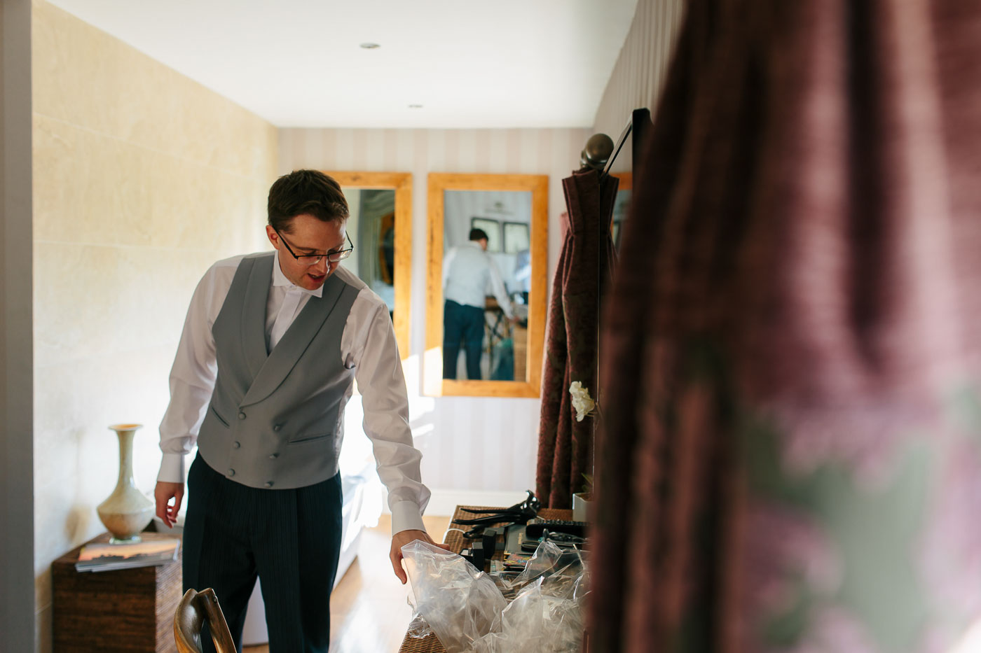 groom getting ready at shireburn arms