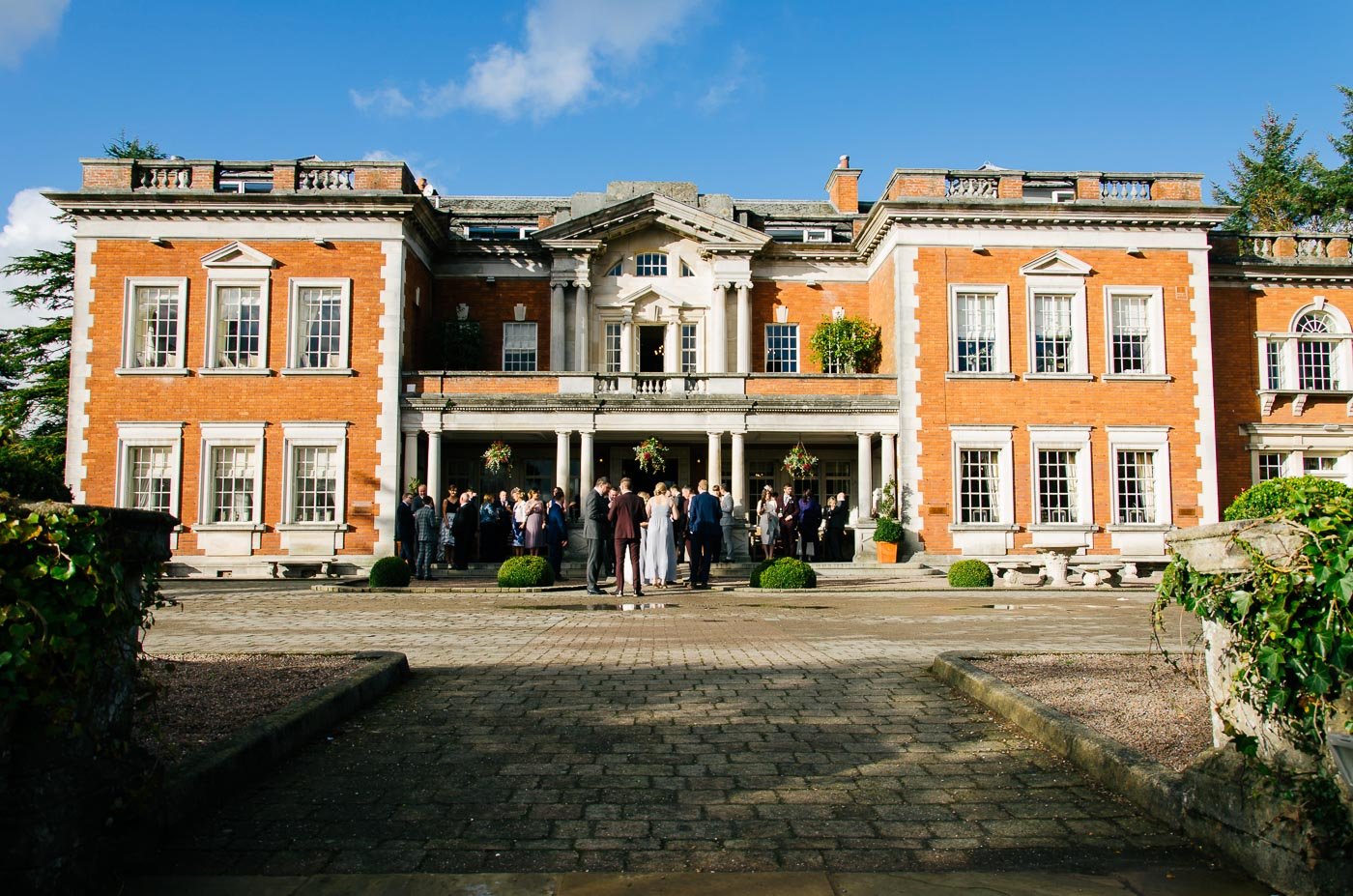 front of eaves hall wedding venue