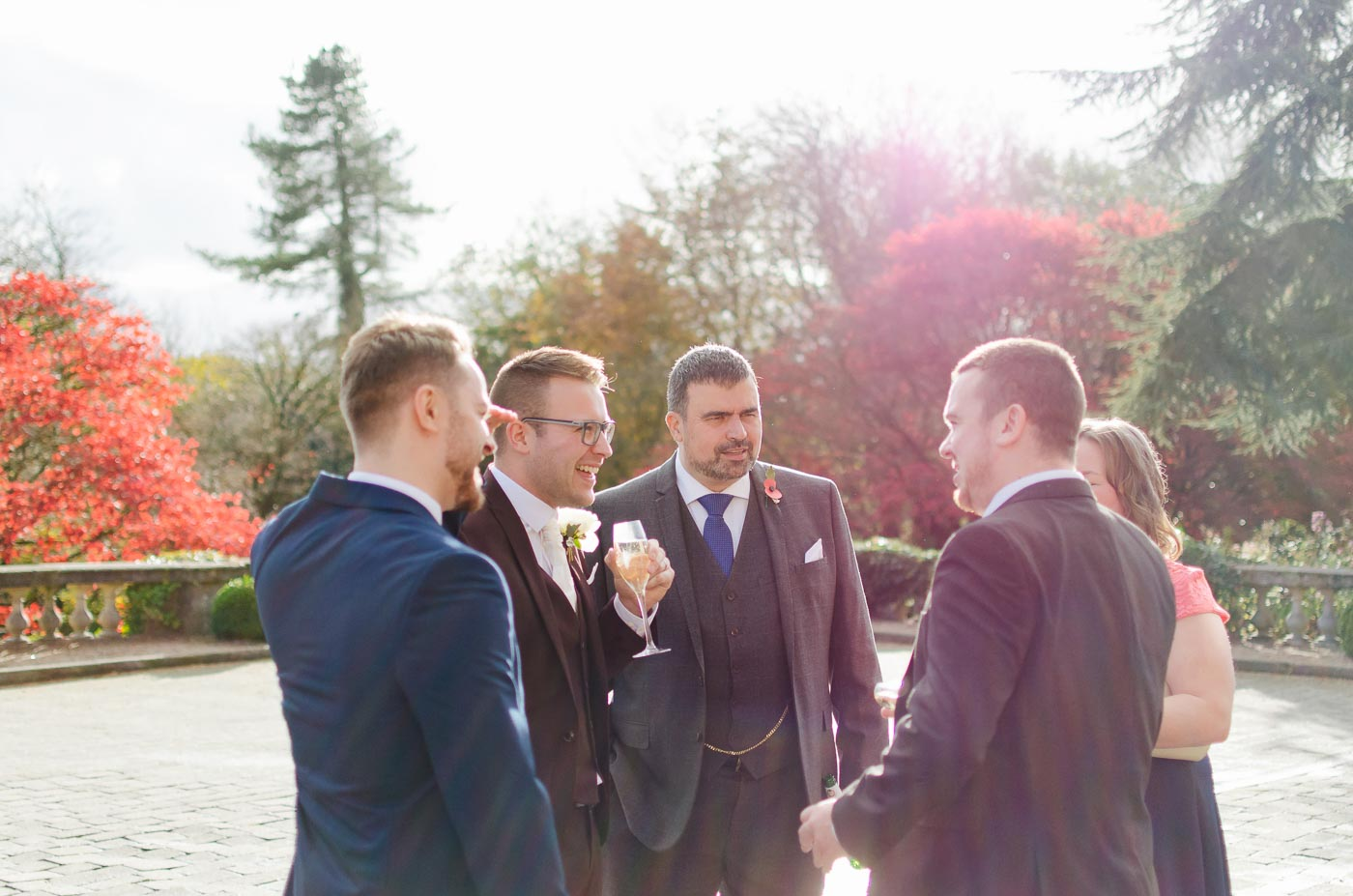 groom talking to guests
