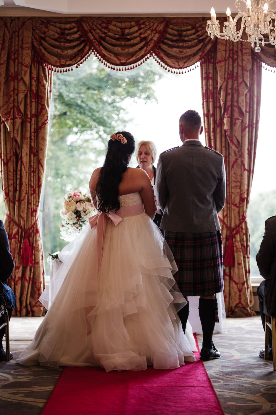 ardoe house wedding photography during the ceremony
