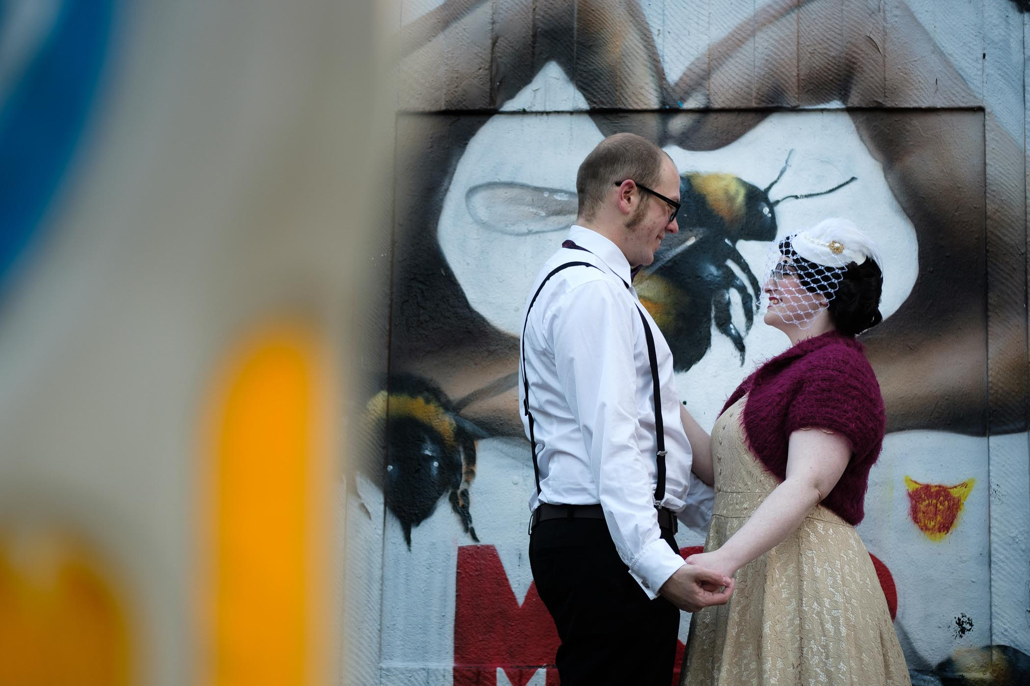 quirky couple shoot in manchester