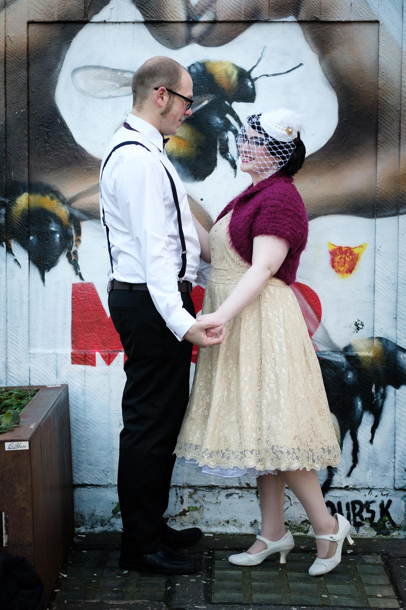 colourful manchester couple shoot
