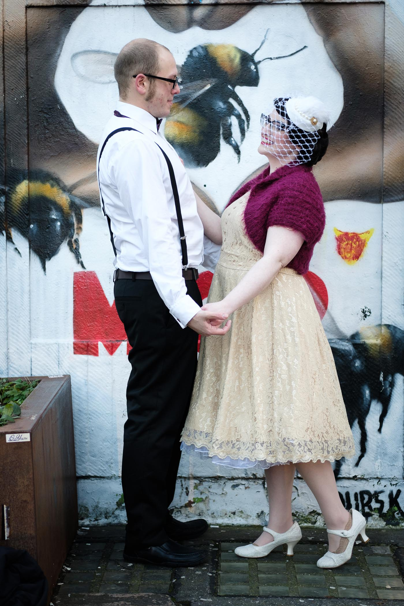 vintage styled couple shoot manchester