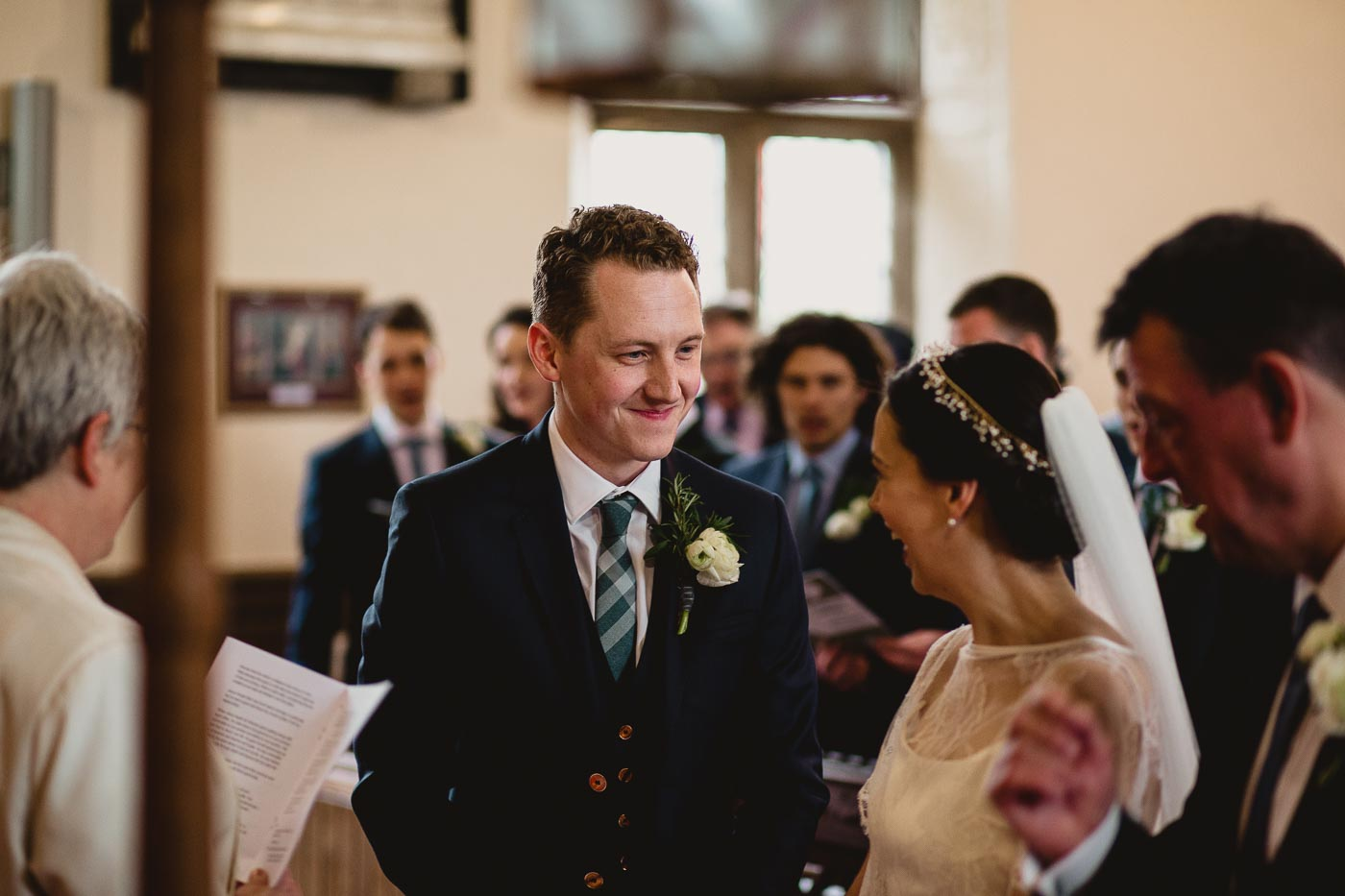 Bride and groom laughing, Beautiful natural wedding photography