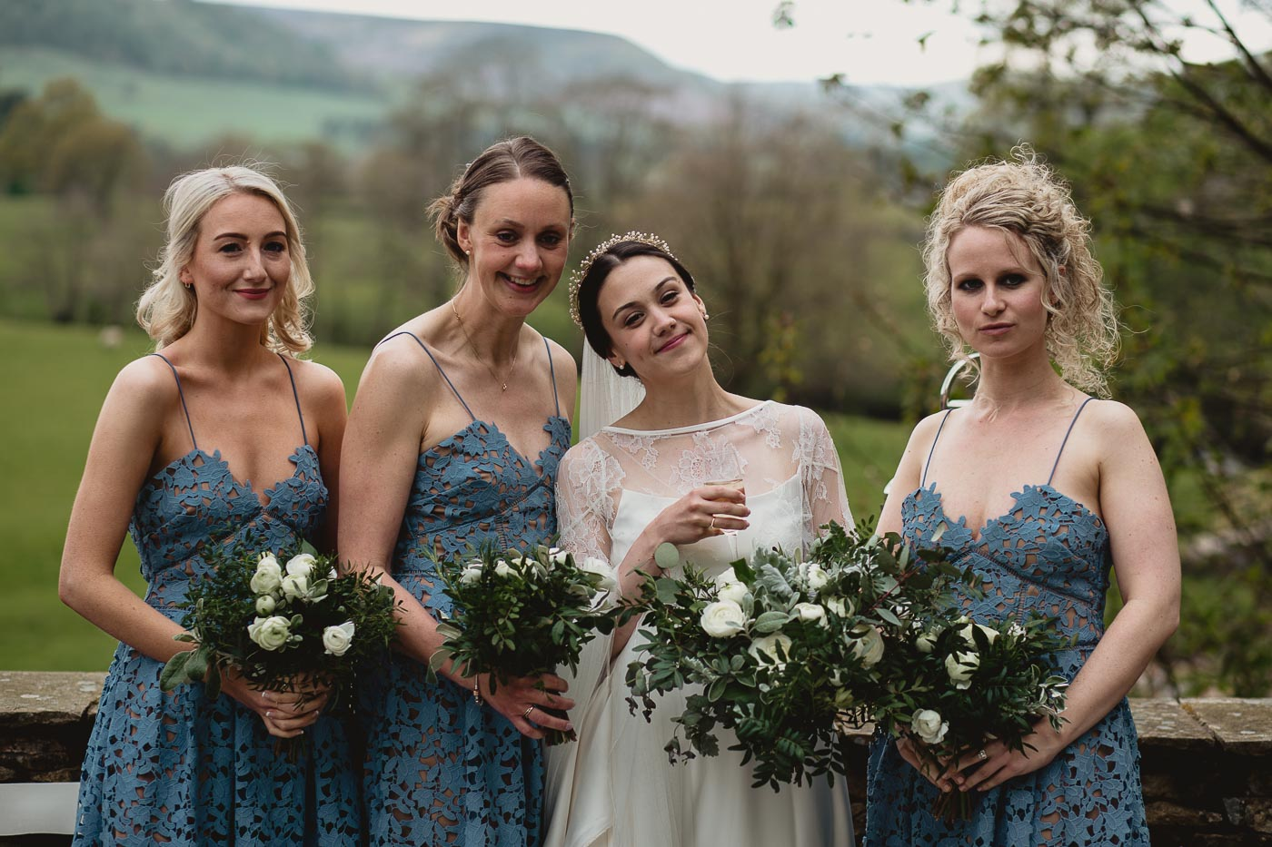 Group photograph of the bride and bridesmaids, Best wedding photographers