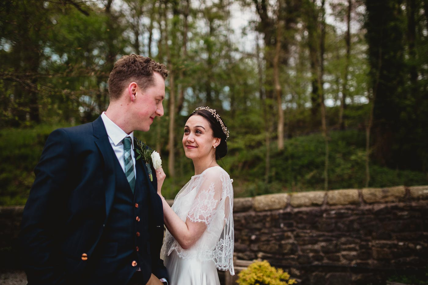 Modern couple portrait at top Lancashire wedding venue