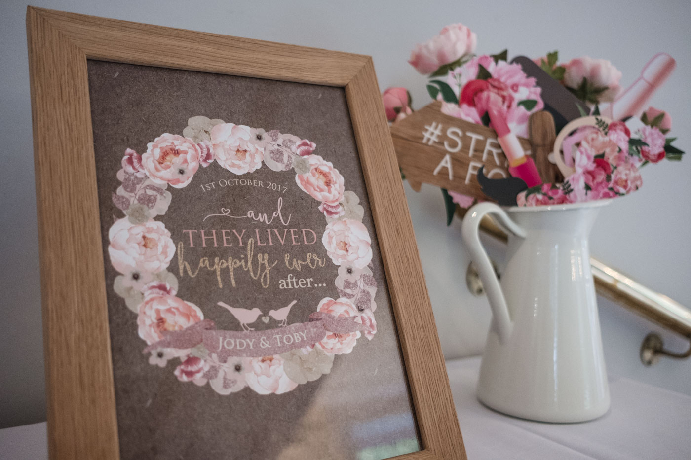 personalised frame with couples name