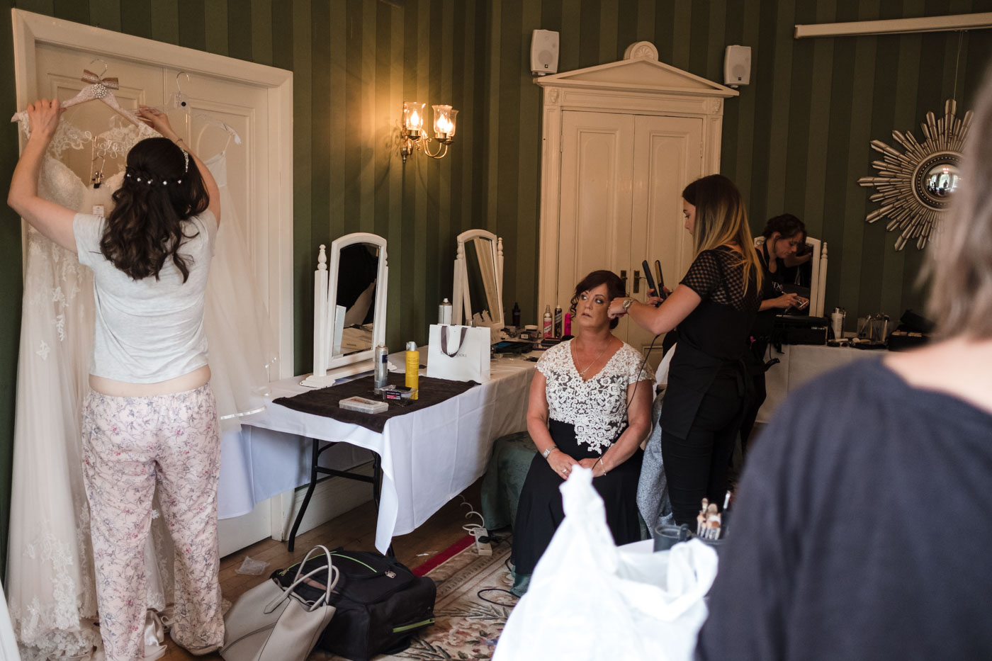 bridal preparations at statham lodge