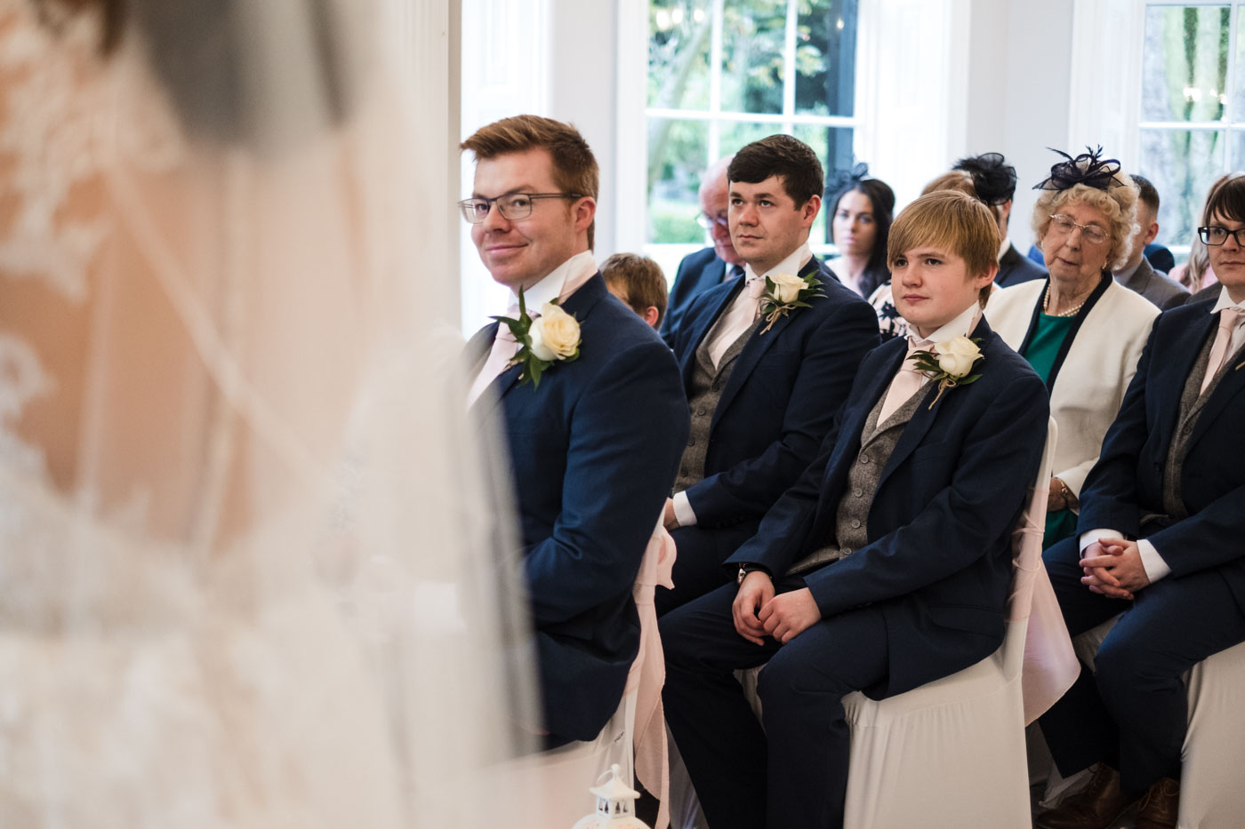 wedding guest reactions in the ceremony room