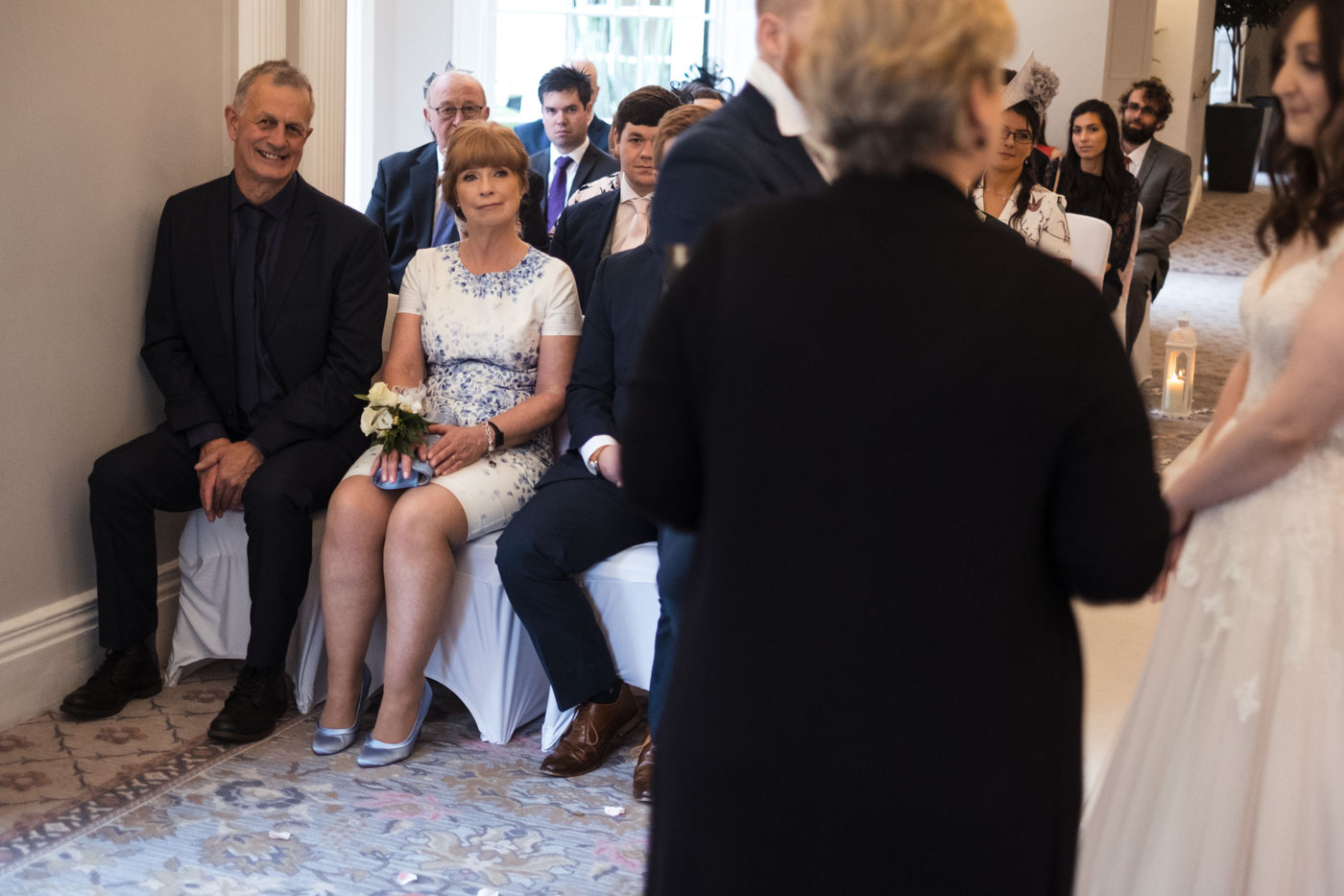 guests watching the wedding