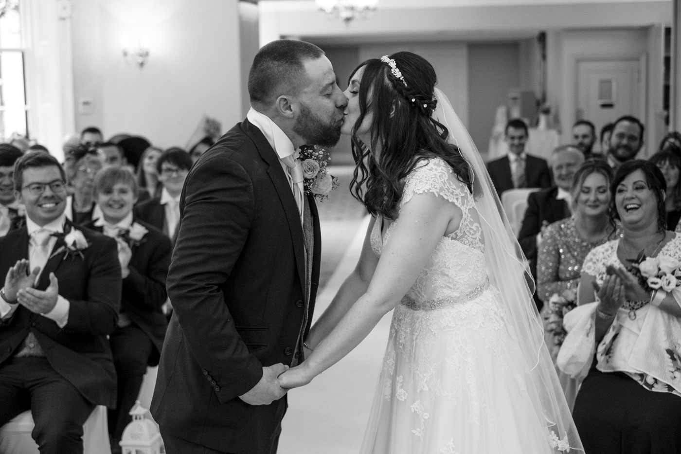 first kiss as a married couple in the ceremony