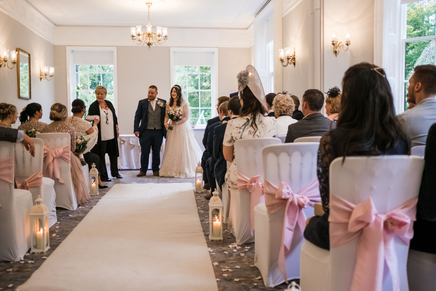 couple just married in the stunning statham lodge hotel wedding venue
