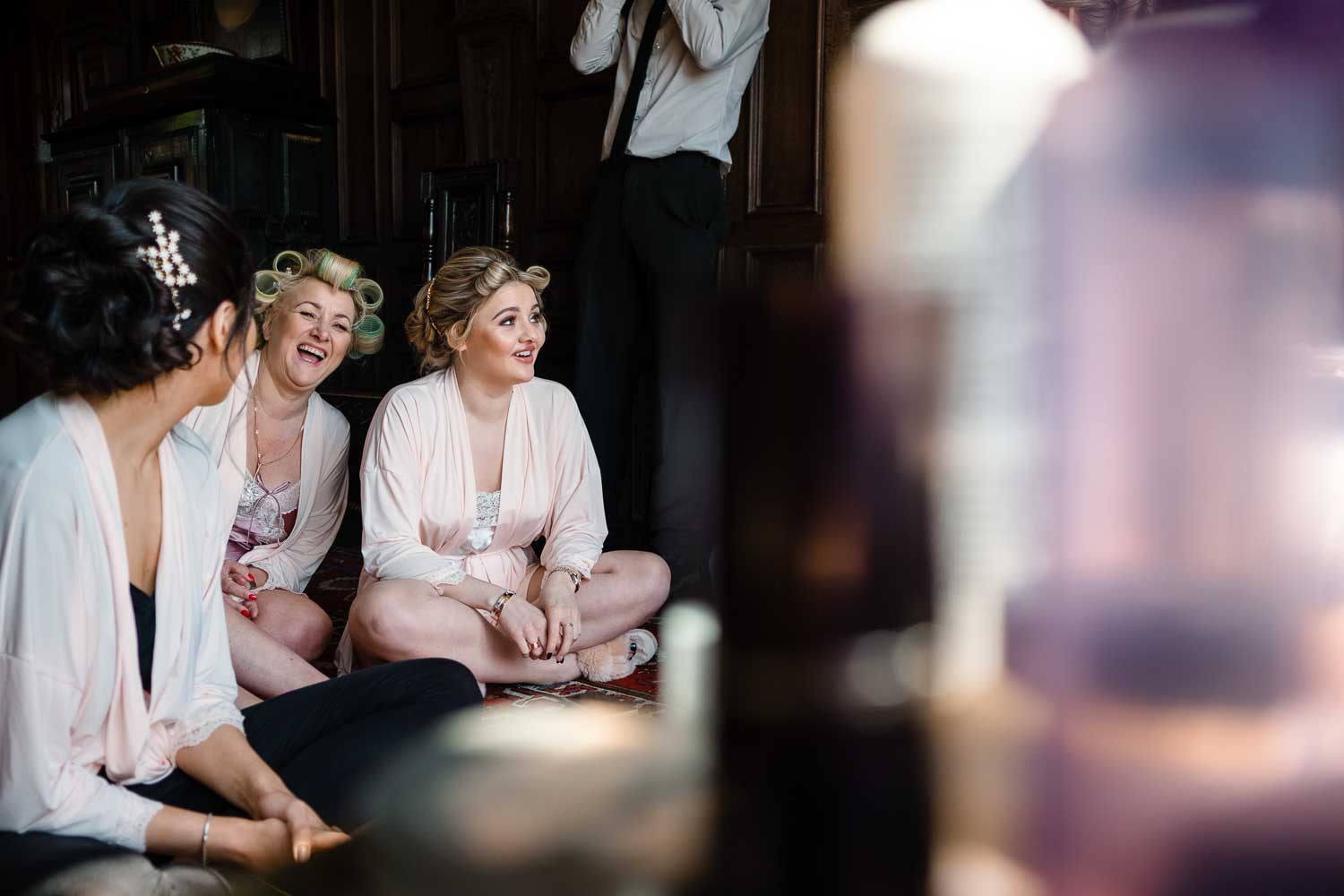 bridemaids laughing