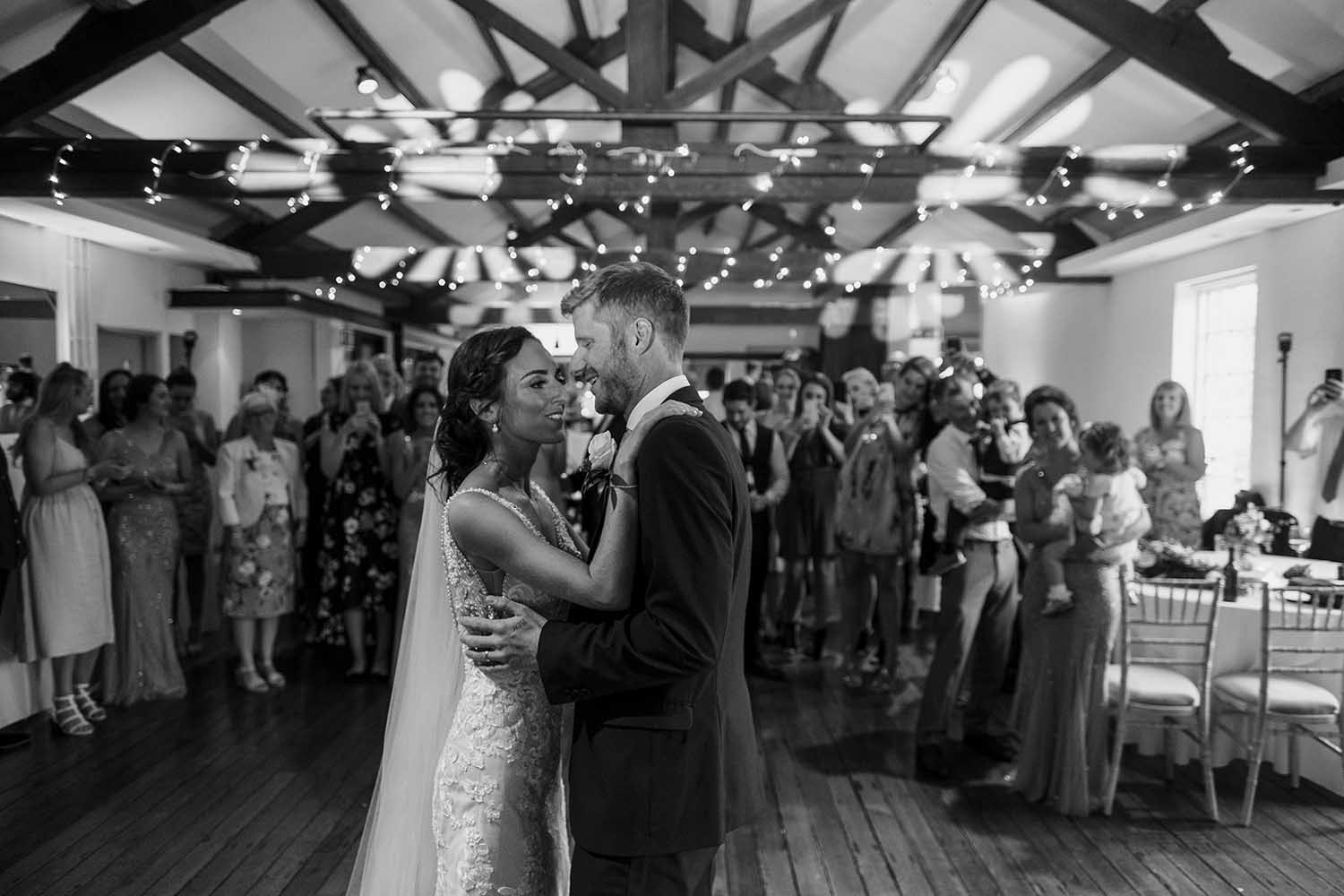 first dance at The Castlefield Rooms in Manchester