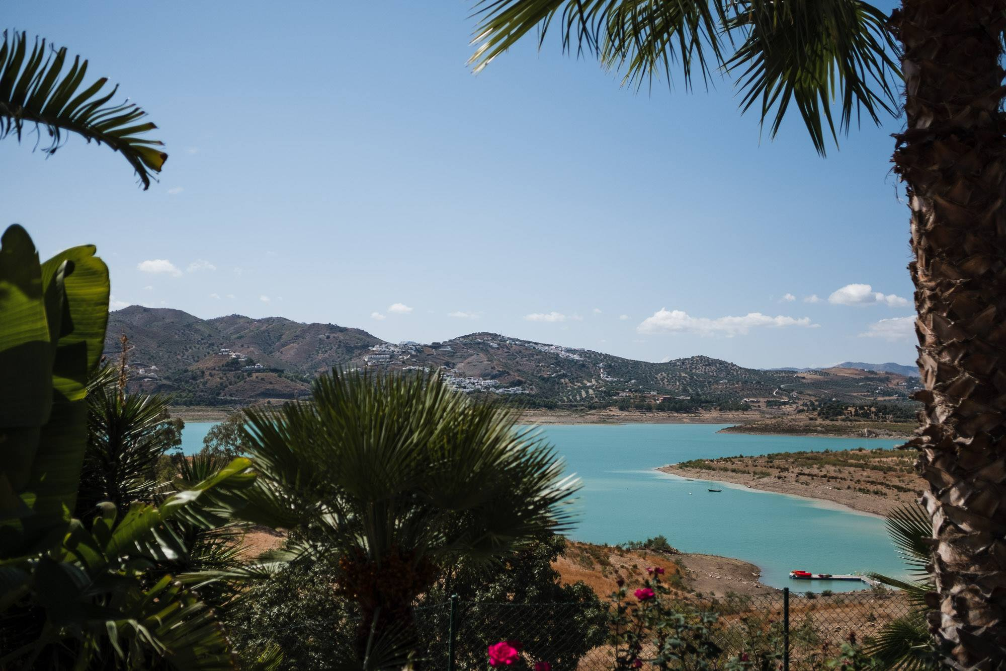 view of the vinuela reservoir