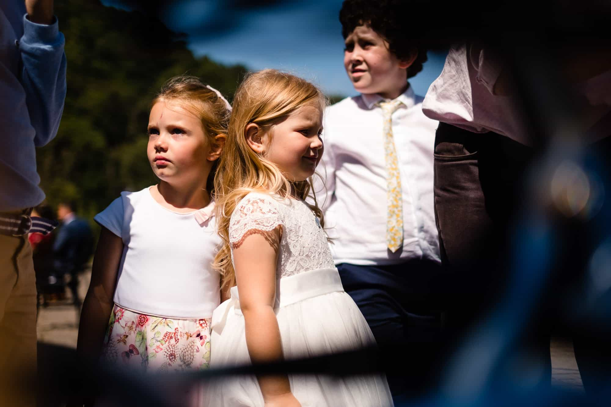 children playing at the wedding