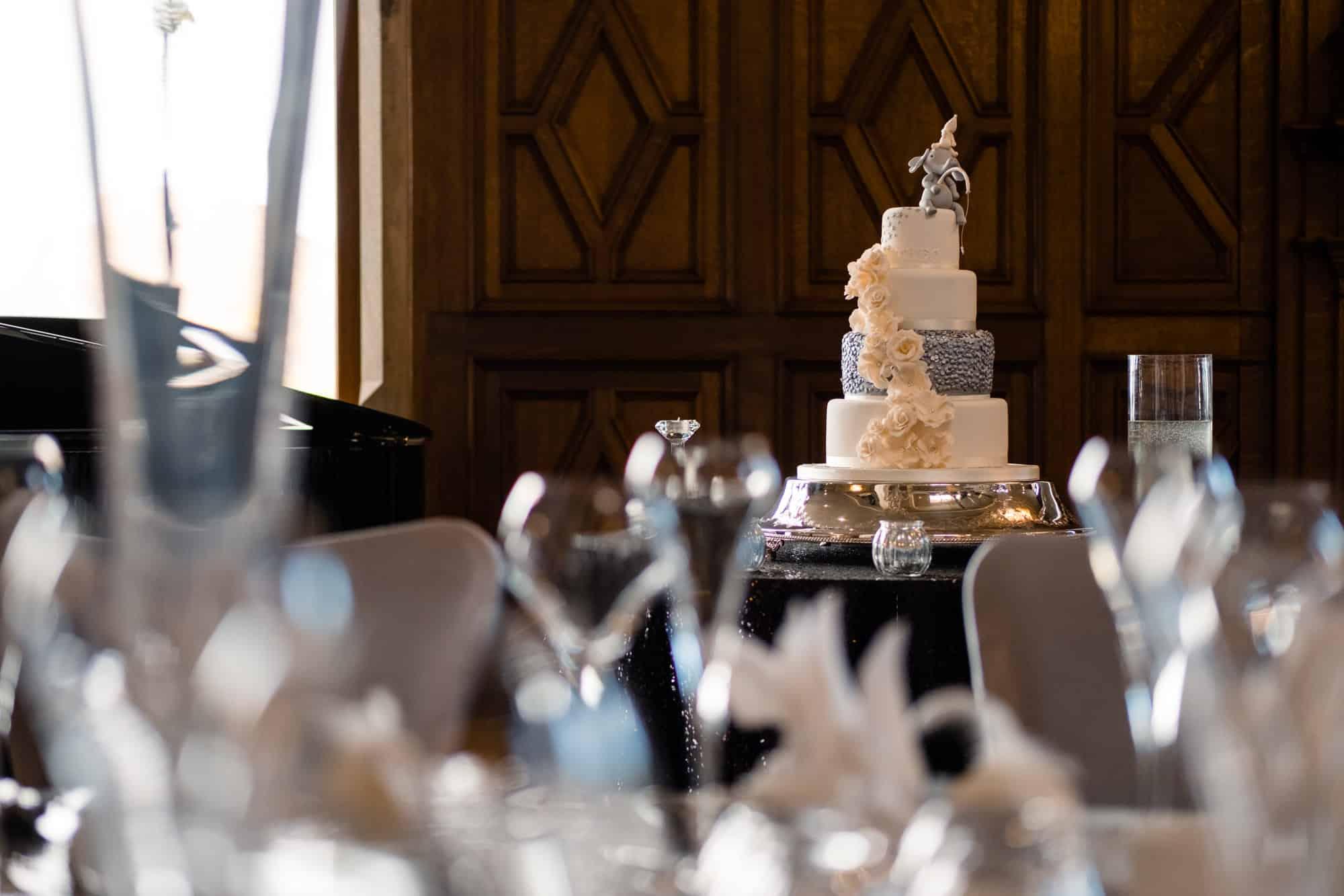 luxury wedding cake at saddleworth wedding