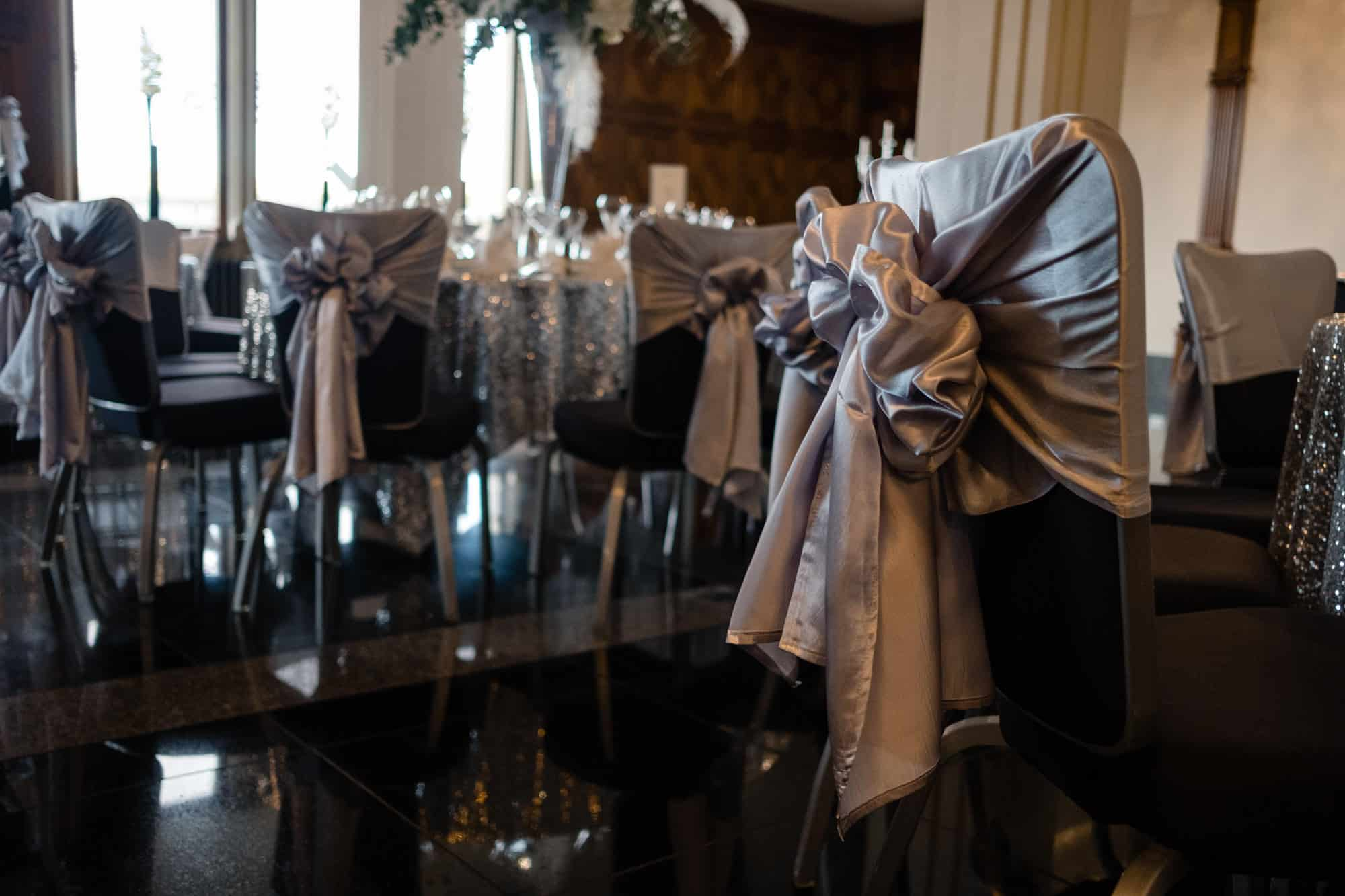 chair covers at saddleworth hotel