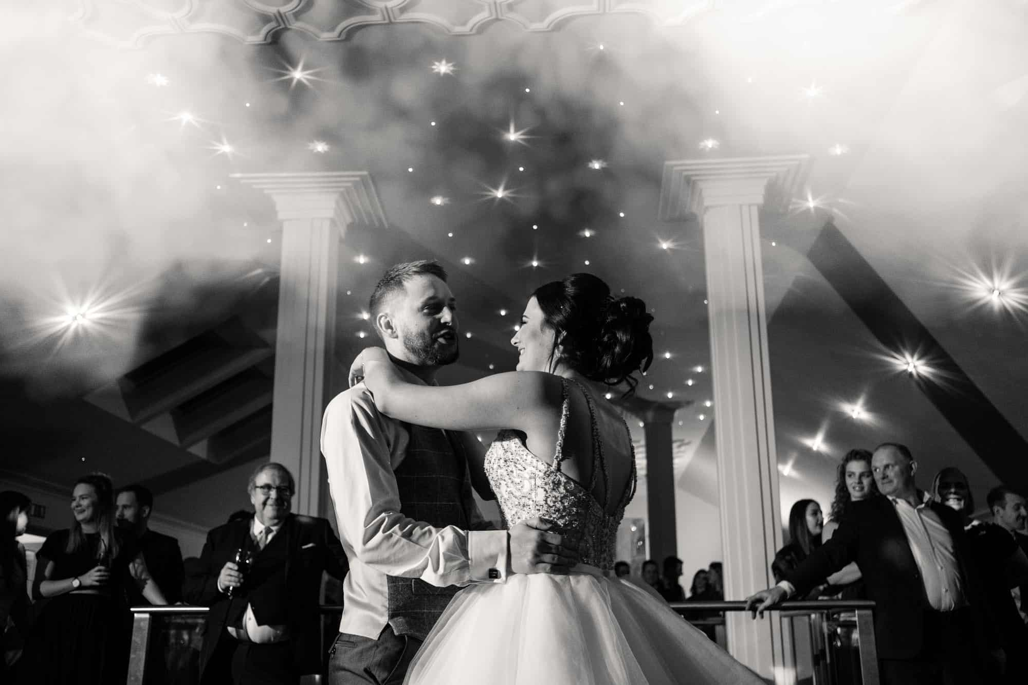 black and white photo of the first dance