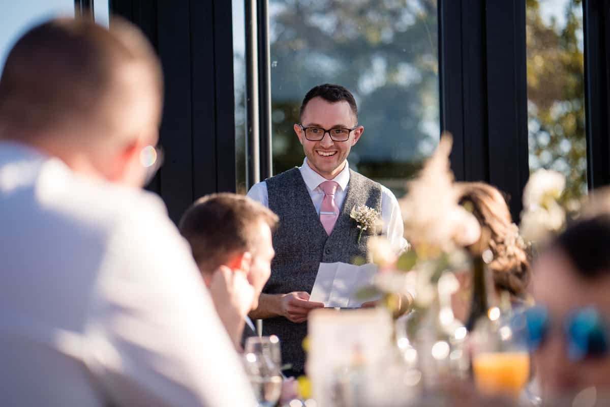 best man doing speech
