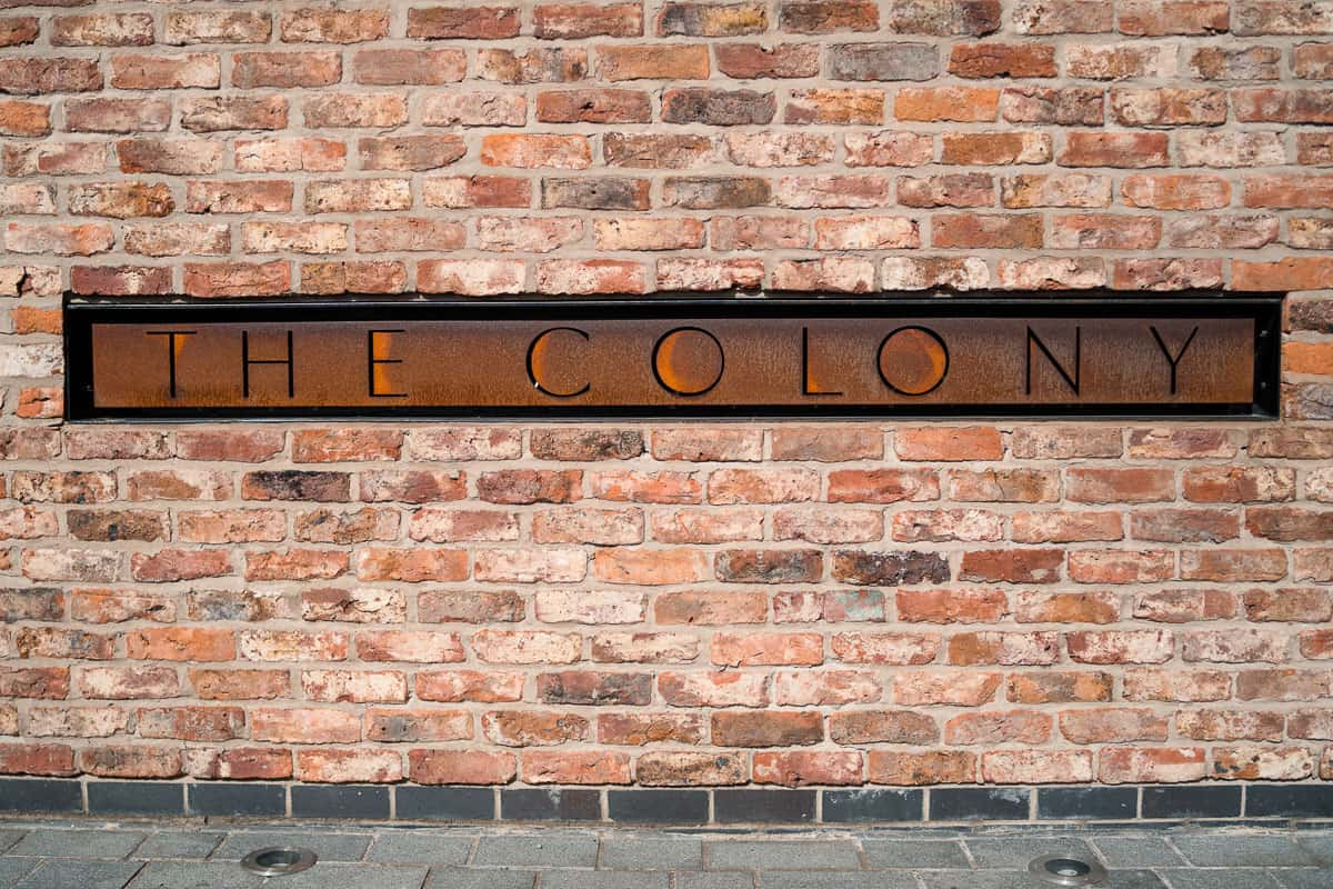 photo of the colony hq sign
